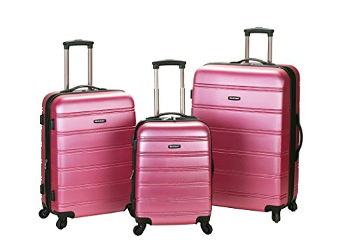 Metallic Pink Luggage Set