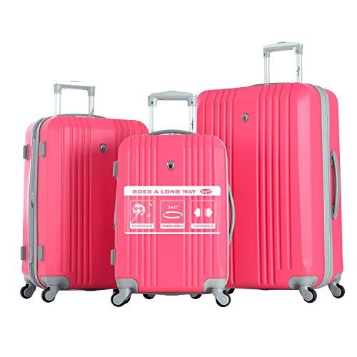 Cute Bubblegum Pink Hardside Luggage Set