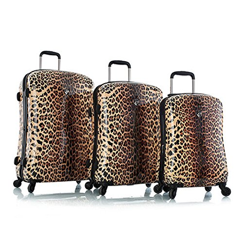 Leopard print 3 Piece Hard Luggage Set