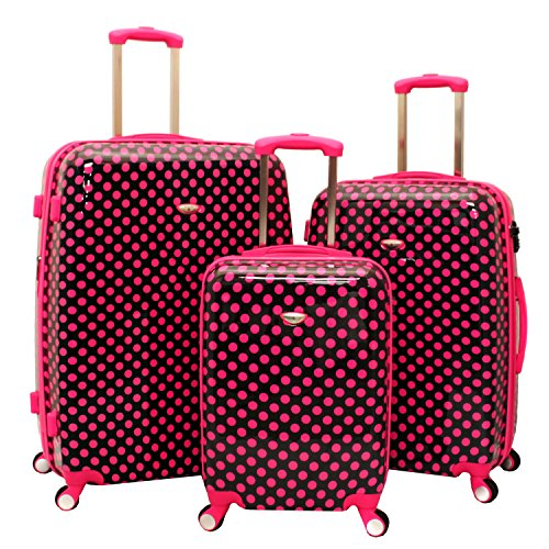 Pink Polka Dots Luggage Set