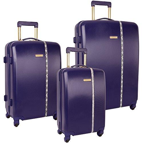 purple suitcases