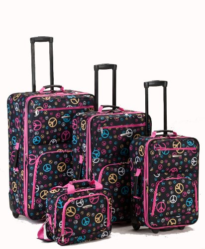 Fun Peace Sign Luggage Set for Teens