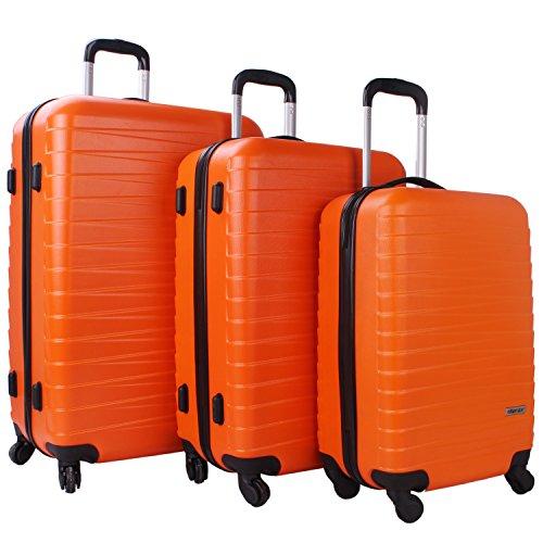 orange suitcases