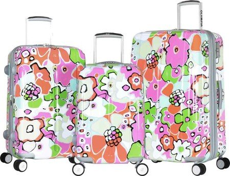 Floral Hardside 3 Piece Luggage Set