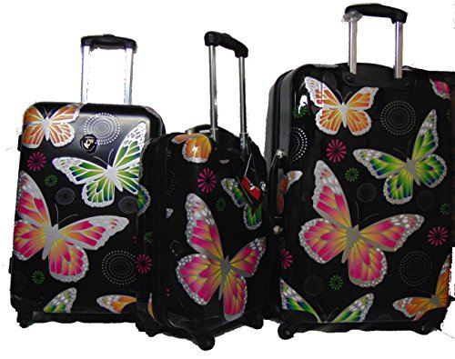 Cute Butterflies Design Luggage Set