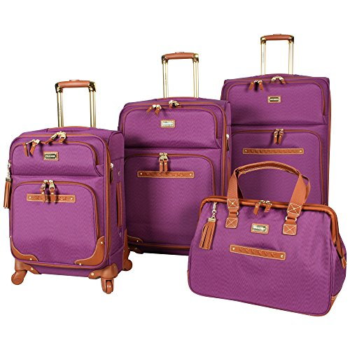 stylish purple luggage